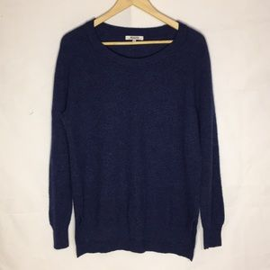 Madewell women's sweater Blue large cotton blend